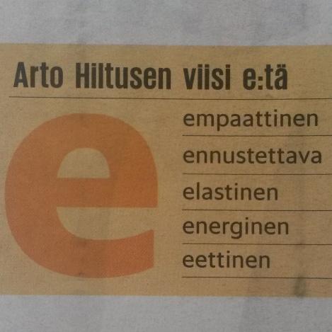 Johtajan tärkeimmät ominaisuudet Arto Hiltusen mukaan. Helsingin Sanomat 18.10.2015.